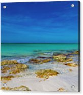 Remote Beach Paradise Turks And Caicos Acrylic Print
