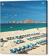 Resort Beach Chairs Acrylic Print