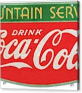 Retro Coke Sign Acrylic Print