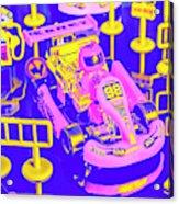 Retro Race Day Acrylic Print