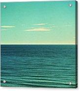 Retro Seascape Postcard Acrylic Print
