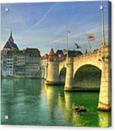 Rhine Bridge In Basel Acrylic Print