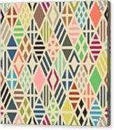 Rhombuses Seamless Pattern. Geometric Acrylic Print