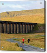Ribblehead Viaduct In Late Autumn North Yorkshire Acrylic Print