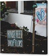 Rinse Feet And Drop Flops Acrylic Print