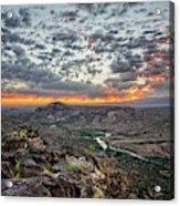 Rio Grande River Sunrise 2 - White Rock New Mexico Acrylic Print