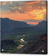 Rio Grande River Sunset Acrylic Print