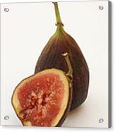 Ripe, Fresh Figs On White Background Acrylic Print