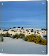 Rippled Sand Dunes In White Sands National Monument, New Mexico - Newm500 00114 Acrylic Print
