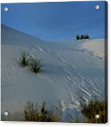 Rippled Sand Dunes In White Sands National Monument, New Mexico - Newm500 00118 Acrylic Print