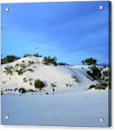 Rippled Sand Dunes In White Sands National Monument, New Mexico - Newm500 00119 Acrylic Print