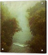 River In Fog Acrylic Print