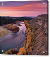 River Sunrise Acrylic Print