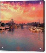 River Thames At Molesey Acrylic Print