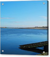 River Tweed Estuaryto Spittal, Pier With Lighthouse And Chimney Acrylic Print