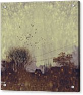River Village With Grunge Acrylic Print