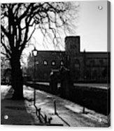 riverside walk in Haddington on winters morning Acrylic Print