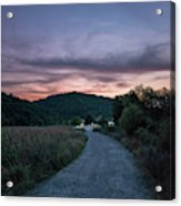 Road To Sunset Acrylic Print