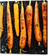 Roasted Carrots With Spices On A Baking Acrylic Print