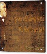 Robert Browning 1 Acrylic Print