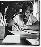 Robert Redford Writing At Desk Acrylic Print