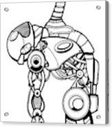 Robot Charging Acrylic Print