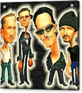 Rock N' Roll Warriors - U2 Acrylic Print
