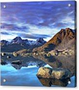 Rock Reflection Landscape Acrylic Print