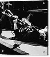 Rock Singer Bruce Springsteen In Concert Acrylic Print