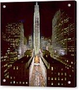 Rockefeller Center, Manhatten, At Acrylic Print