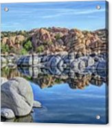 Rocks And Reflections Acrylic Print