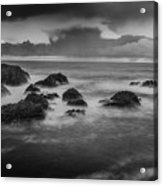 Rocks In The Storm Acrylic Print