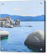 Rocky Cove On Lake Tahoe Acrylic Print