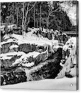 Rocky Gorge Foot Bridge N H Acrylic Print