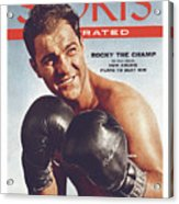 Rocky Marciano, Heavyweight Boxing Sports Illustrated Cover Acrylic Print