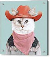 Rodeo Cat Acrylic Print