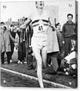 Roger Bannister Breaking The Four Acrylic Print