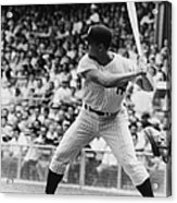 Roger Maris At Bat At Yankee Stadium Acrylic Print