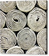 Rolled Rugs Background Acrylic Print