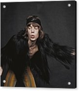 Rolling Stones Singer Acrylic Print