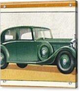 Rolls-royce 20-25 Saloon, C1936 Acrylic Print