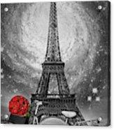 Romance At The Eiffel Tower Acrylic Print