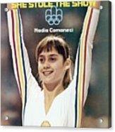 Romania Nadia Comaneci, 1976 Summer Olympics Sports Illustrated Cover Acrylic Print