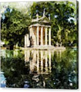 Rome, Ancient Temple Of Aesculapius - 04 Acrylic Print