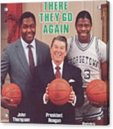 Ronald Reagan With Georgetown University Coach John Sports Illustrated Cover Acrylic Print