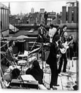 Rooftop Beatles Acrylic Print