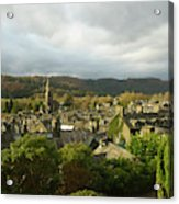 Rooftops Of Ambleside In Early Morning In The Lake District Acrylic Print