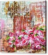 Rose Bundle With Copper Pot Acrylic Print