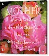 Roses - Verse Acrylic Print