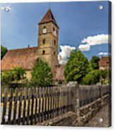 Rothenburg Ob Tauber Church Acrylic Print